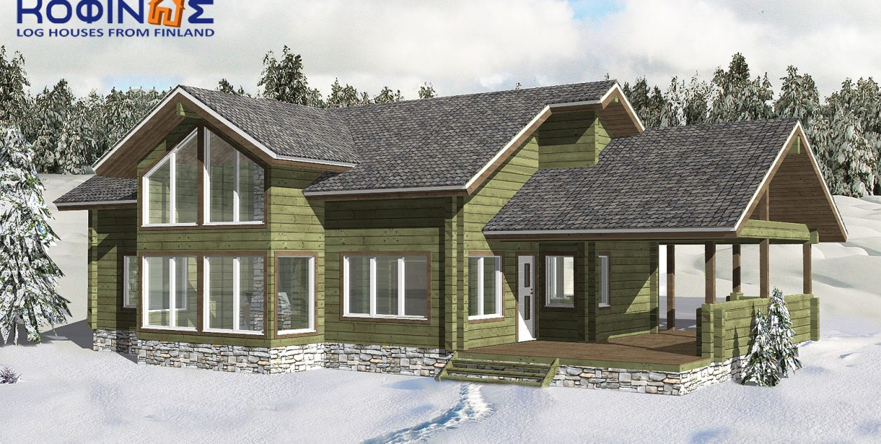 2-story log house XD-174, total surface of 174,20 m² featured image