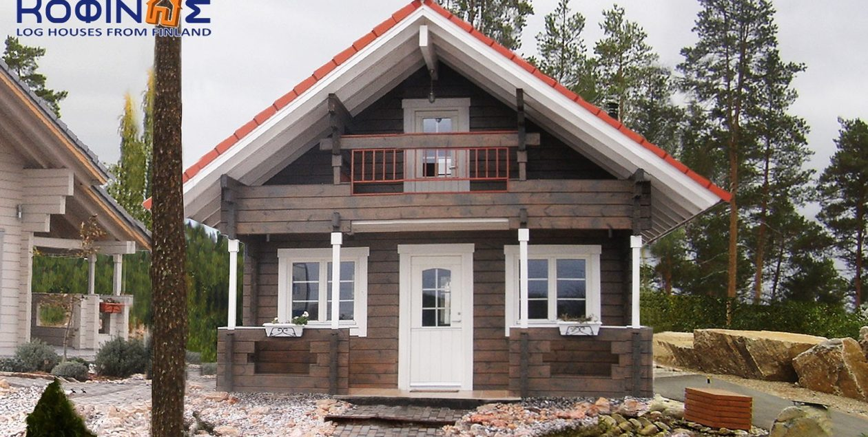 2-story log house XD-49, total surface of 49,80 m² featured image