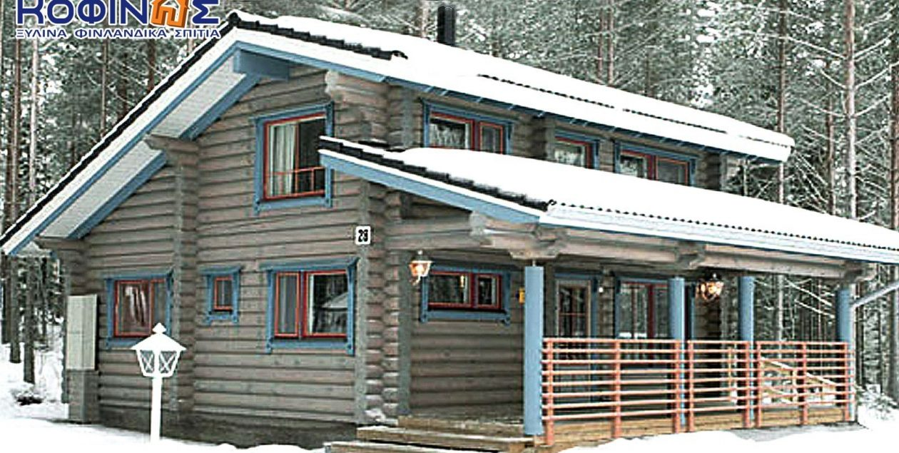 Διώροφη Ξύλινη Κατοικία XD-77, συνολικής επιφάνειας 77,20 τ.μ. featured image