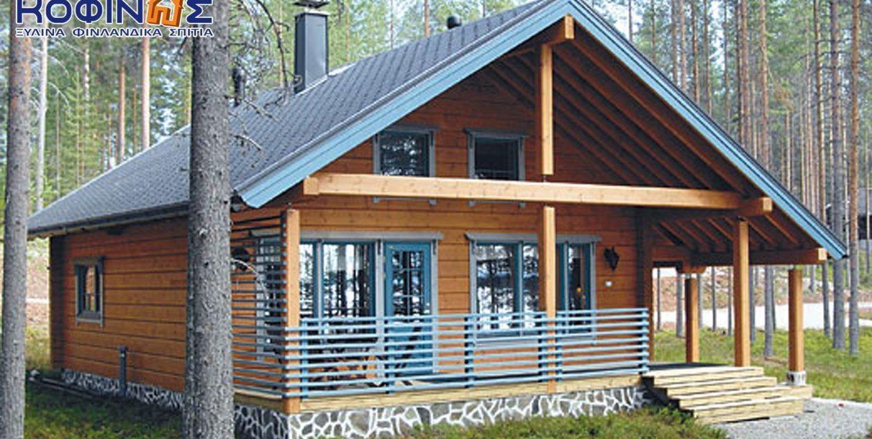 Διώροφη Ξύλινη Κατοικία XD-77a, συνολικής επιφάνειας 77,50 τ.μ. featured image