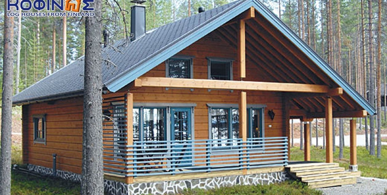 2-story log house XD-77a, total surface of 77,50 m² featured image