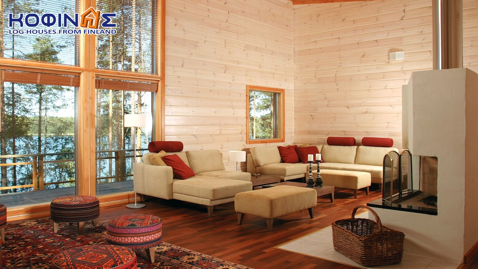 1-story log house XI-110, total surface of 110 m²
