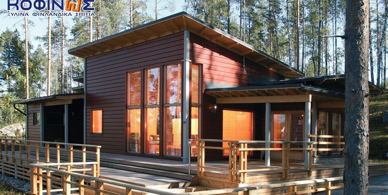 Ισόγεια Ξύλινη Κατοικία XI-110, συνολικής επιφάνειας 110 τ.μ. featured image