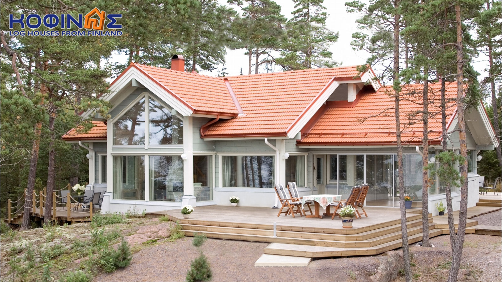 1-story log house XI-119, habitable space of 119 m²