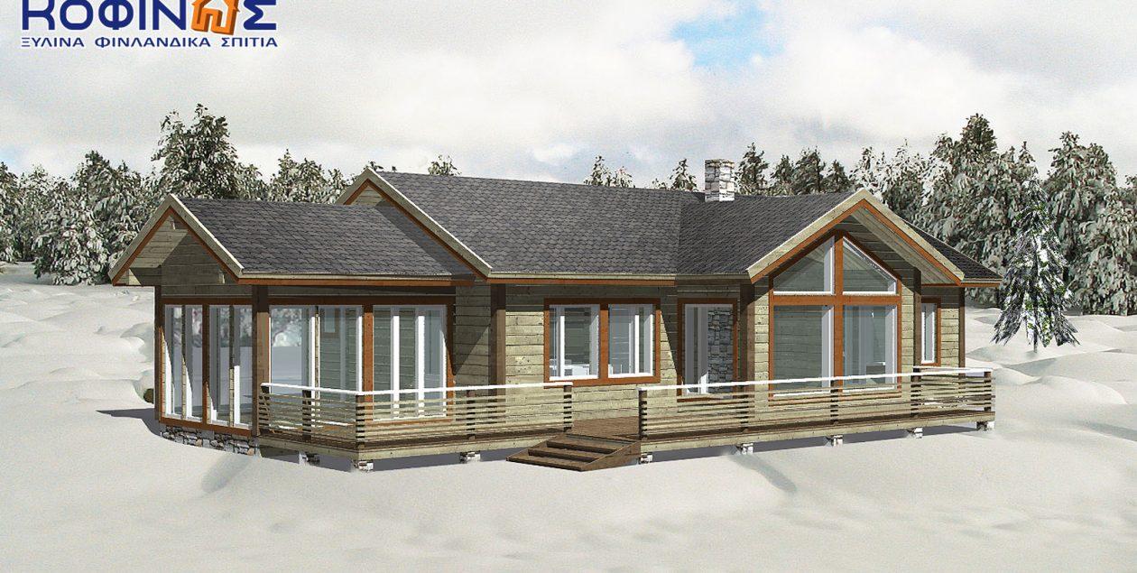 Ισόγεια Ξύλινη Κατοικία XI-125, συνολικής επιφάνειας 125,00 τ.μ. featured image