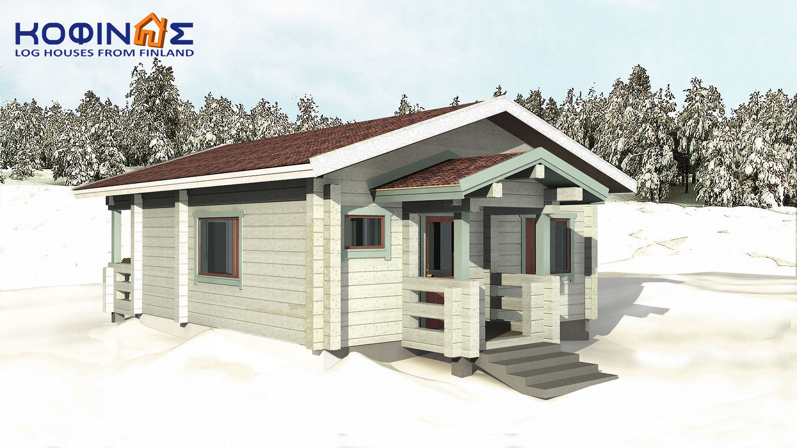 1-story log house XI-26, total surface of 26,50 m²