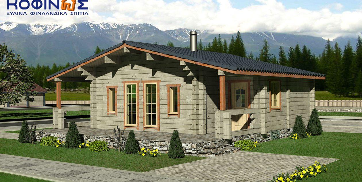 Ισόγεια Ξύλινη Κατοικία XI-69, συνολικής επιφάνειας 69,00 τ.μ. featured image