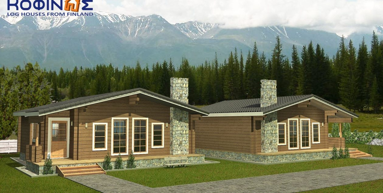 Complex of 2 log houses XI-71, total surface of 2 x 71 = 142,00 m² featured image
