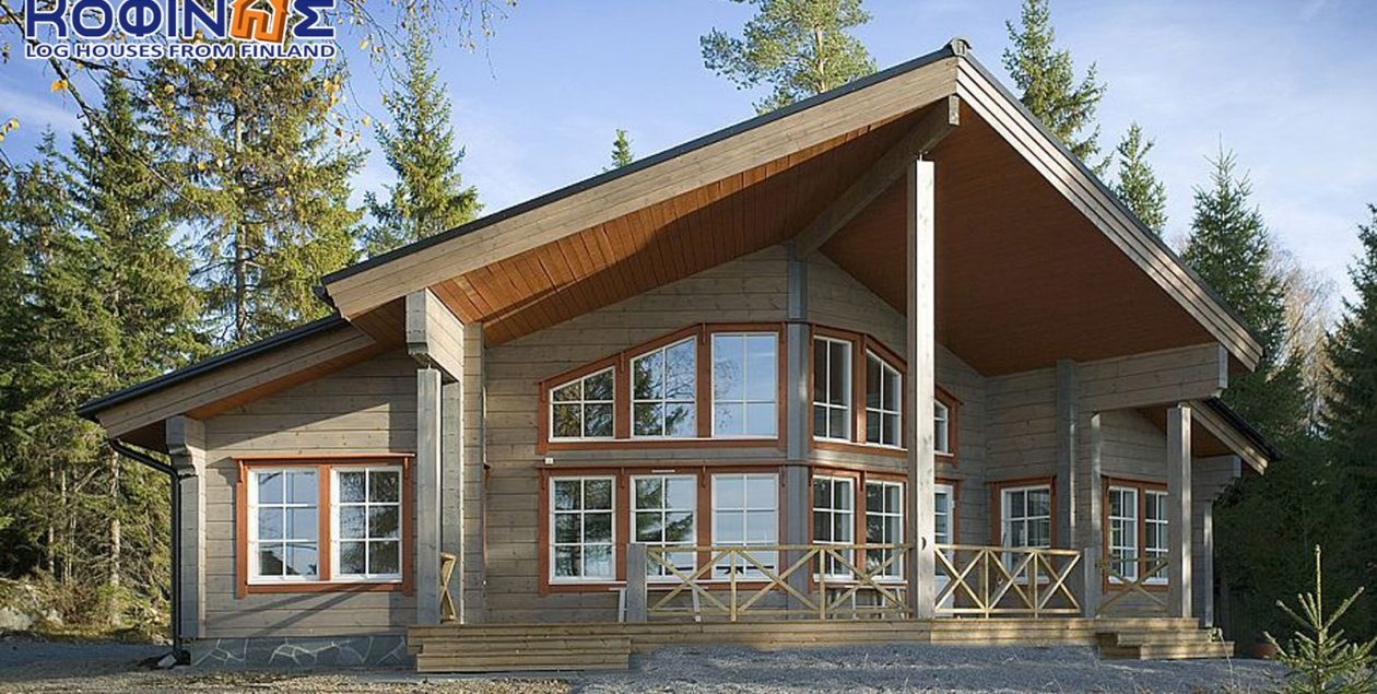 1-story log house XI-86, total surface of 86,70 m² featured image
