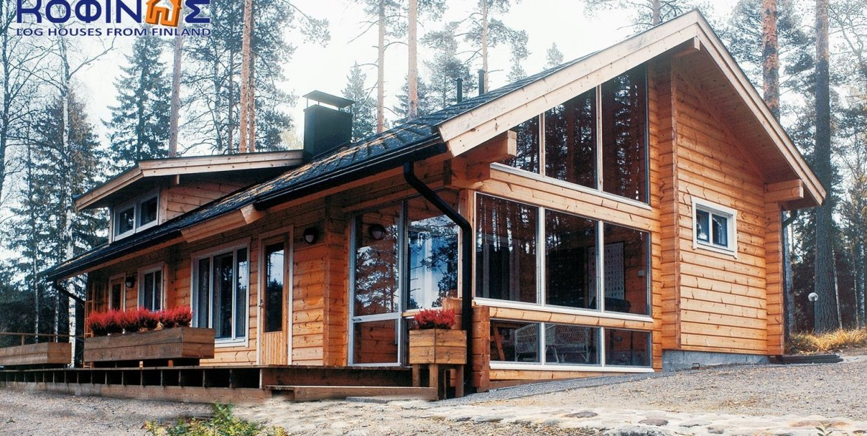 1-story log house XI-90, total surface of 90,00 m² featured image