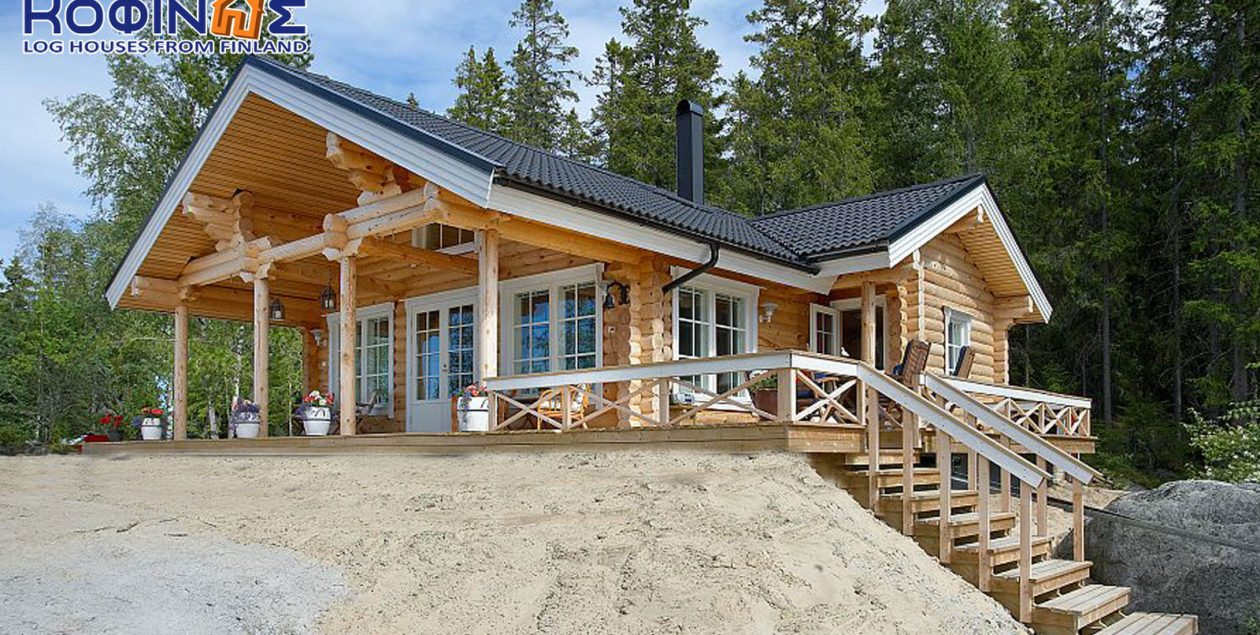 1-story log house XI-93, total surface of93,15 m² featured image