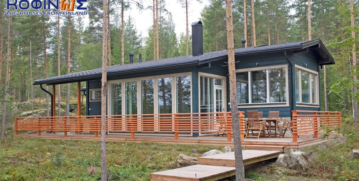 1-story log house XI-97, total surface of 97,80 m² featured image