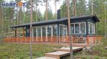 1-story log house XI-97, total surface of 97,80 m²